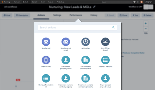 hubspot marketing autotion system